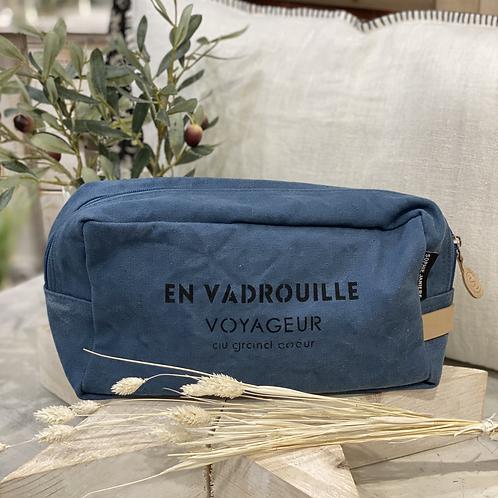 TROUSSE DE TOILETTE EN VADROUILLE Bleu Jean - Sophie Janière