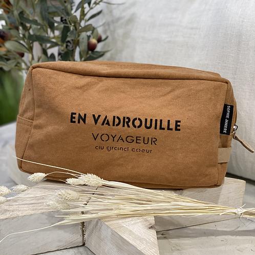 TROUSSE DE TOILETTE EN VADROUILLE Curcuma - Sophie Janière