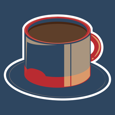 Tasty Hat Coffe Shop Sticker