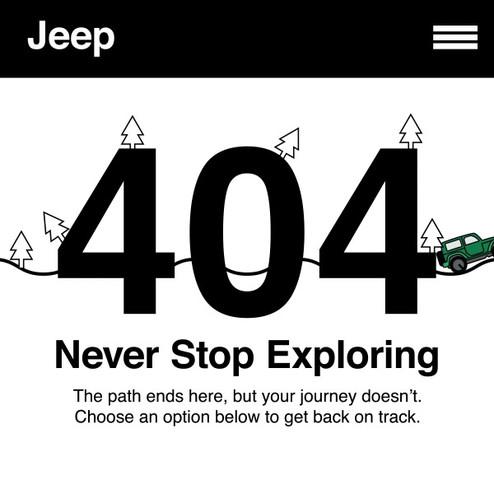 Jeep 404 Error Page