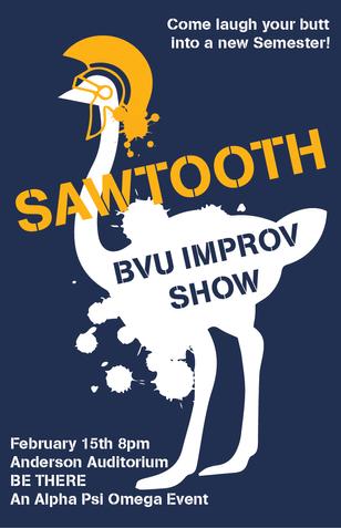SAWTOOTH Spring Show Poster