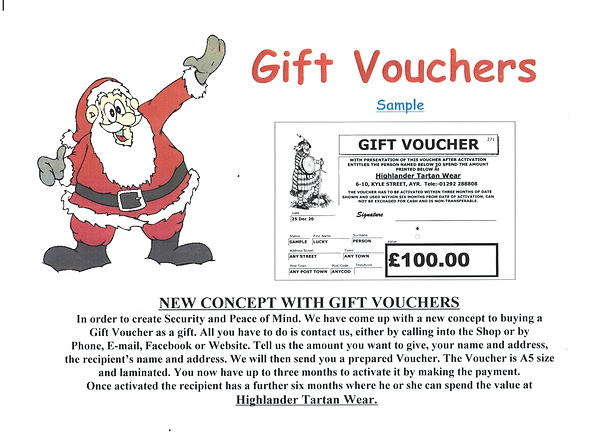 Christmas Voucher for Facebook Black Let