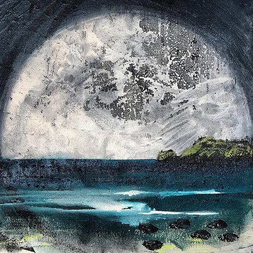 Full Moon Teifi Estuary Helen Elliott