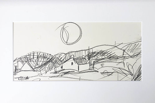 St David's Headland- pencil on paper