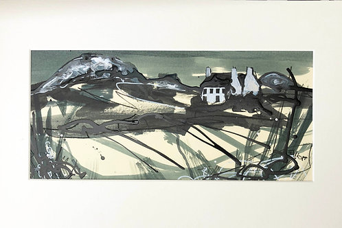 St David's Headland- ink on paper