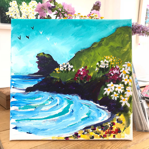 Llangrannog, summer evening, sketch