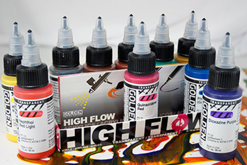 GOLDEN High Flow - Transparent Colours Set