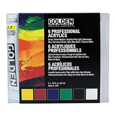 GOLDEN heavy body set, 6 x 22ml Heavy Body Acrylics