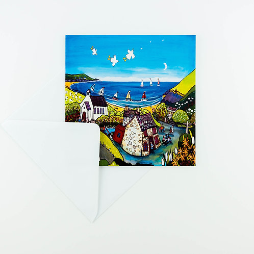 Penbryn, Celendine & Snowdrops Cards - pack of six