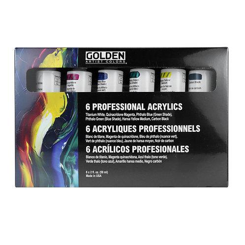 GOLDEN Principle Set, 6 x 60ml Heavy Body Acrylics