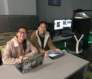 Student Interns Working in the Radlab