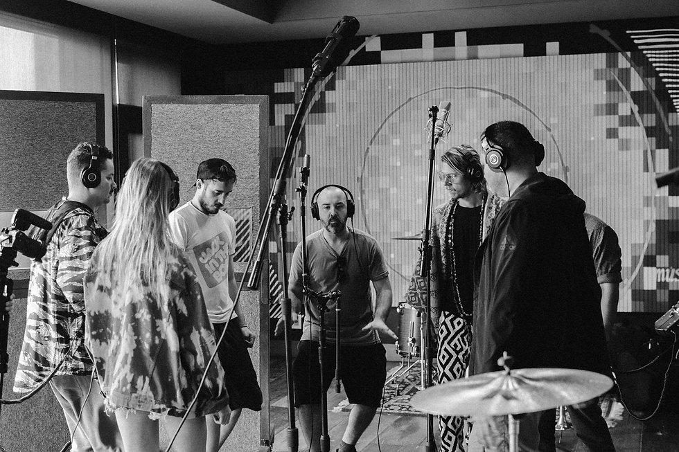 Kimera & the King Crabs on the studio