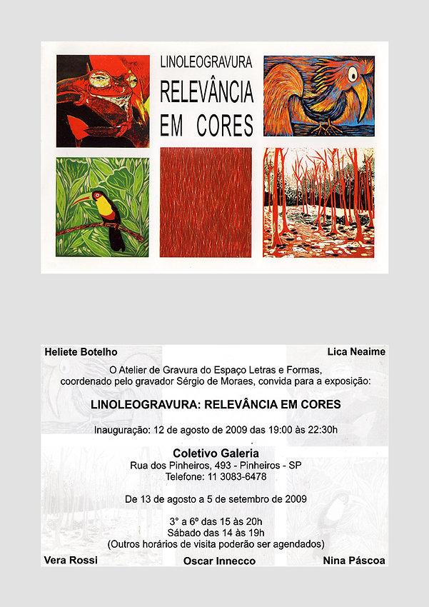 Convite Linoleogravura Relevância em Cores