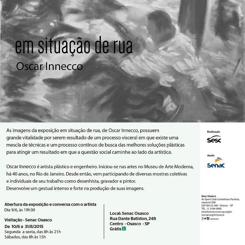 convite da exposição Em Sitiação de Rua