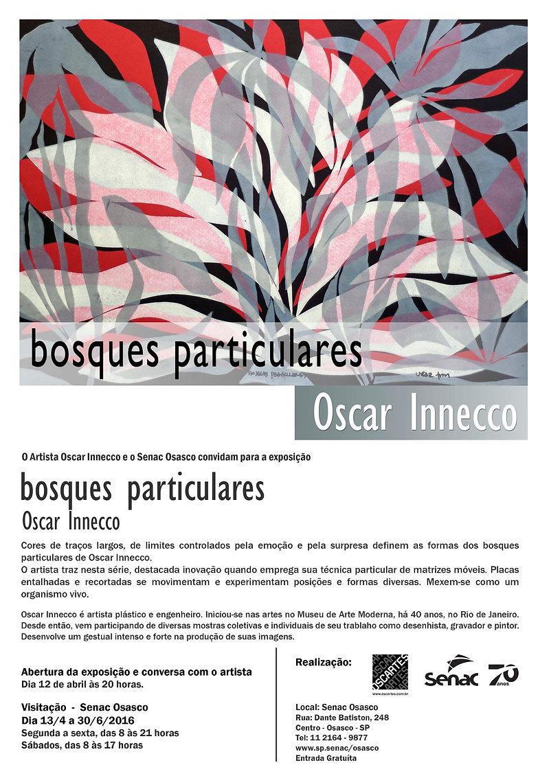 Convite da exposição Caminhos Paralelos