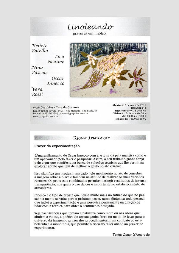 Convite Exposição Linoleando