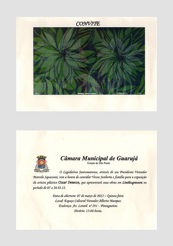 Convite Câmara Municipal de Guarujá