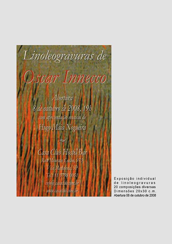 Convite Linoleogravuras de Oscar Innecco