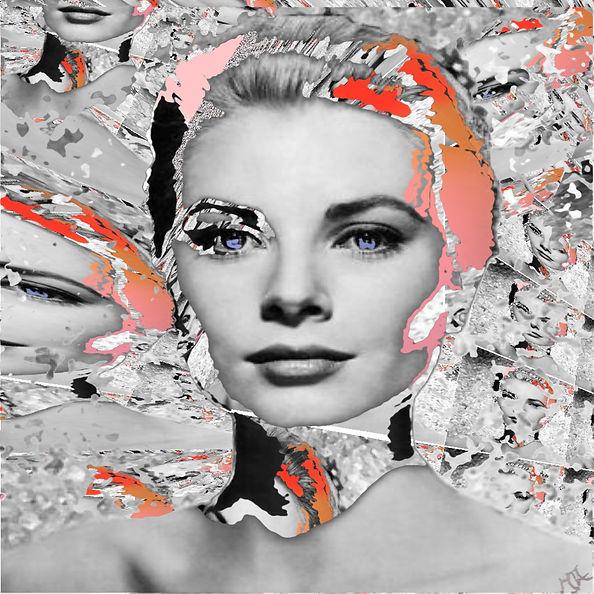 "Digital artwork, Title ""Life In Motion, Grace Kelly"" Artist Art by Mandy UK , Art by Mandy-Jayne Ahlfors ©"
