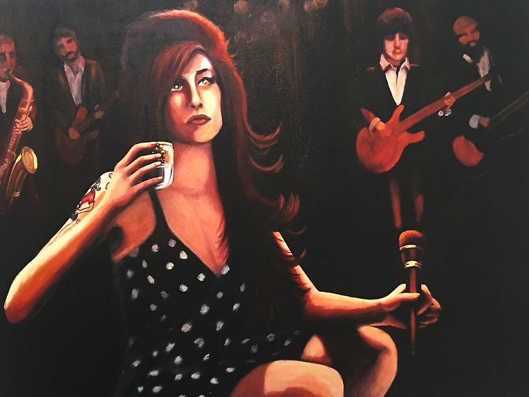 Icon, Amy Winehouse painting by artist Art by Mandy UK Mandy-Jayne Ahlfors ©