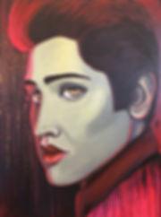 ELVIS RED & GOLD, ARTIST ART BY MANDY JA