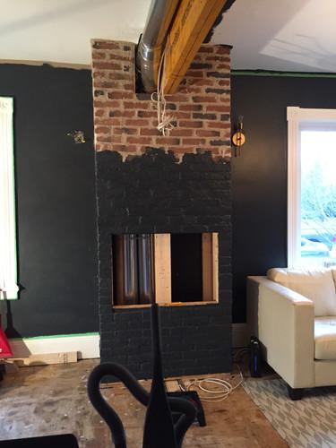 Process Image of Custom Fireplace