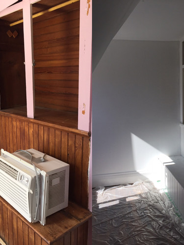 Before Image and Process Image of Walk-In Closet