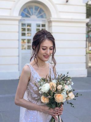 Shi Hui's first look (natural blush look)