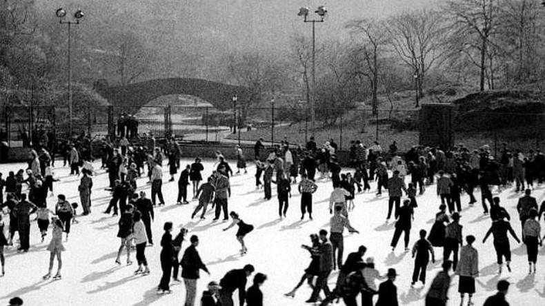 Уоллмен-Ринк - каток Центрального парка Нью-Йорка, 1950 год