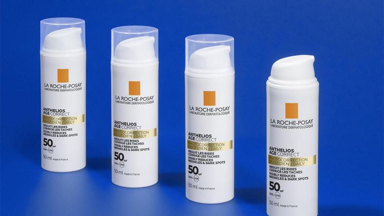 Антивіковий сонцезахисний засіб для проти зморшок та пігмітації з SPF 50+ Anthelios La Roche-Posay