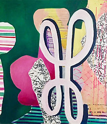 acrylic painting, toile, painting on canvas, cut-outs