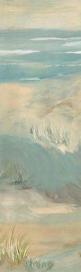 dunes. painting dunes and sea, mural with dunes , panel of mural with sea and dunes, wallpaper panel