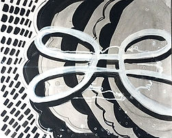 ink drawing, work on paper, abstract, black and white, abstract drawing