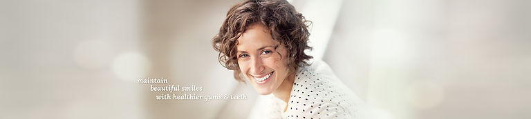 Main beautiful miles with healthier gums and teeth.