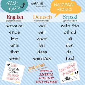 Veznici u nemačkom i engleskom jeziku