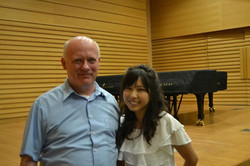 With the Bach expert Father Sean Doggan