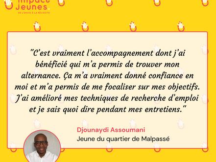 Témoignage de Djounaydi Assoumani / Jeune du quartier de Malpassé suivi par Impact Jeunes