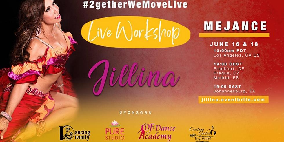 #2getherWeMoveLive with Jillina Mejance Workshop