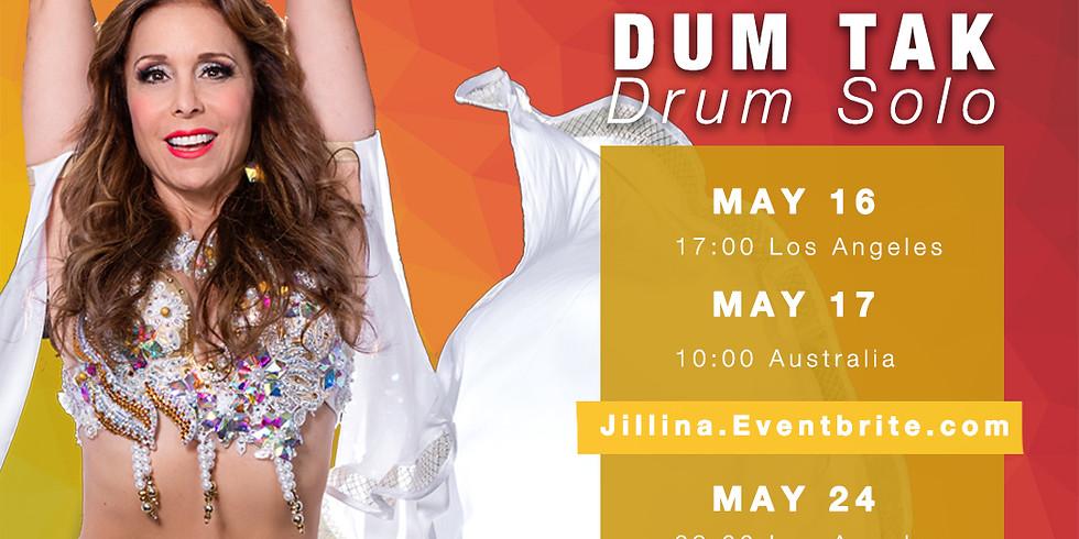 "Jillina's LIVE Workshop ""DUM TAK"" Drum Solo"
