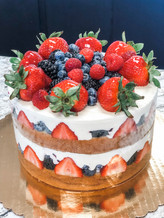 Berry Bavarian Cake