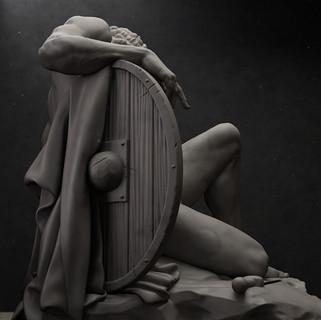 Dying Gladiator UME art