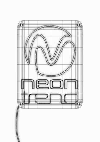 Neon Trend Wireframe