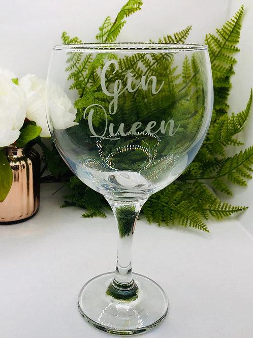 'Gin Queen' Gin Glass