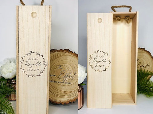 Engraved Wine Box, Personalised Champagne Gift Box