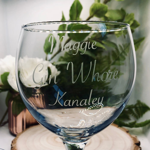 Personalised Gin Whore Glass