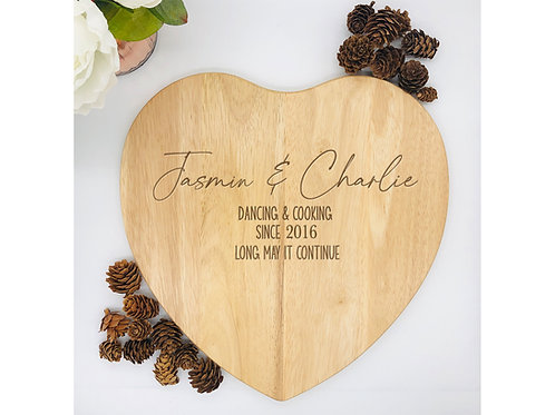 Heart Shaped Wooden Chopping Board