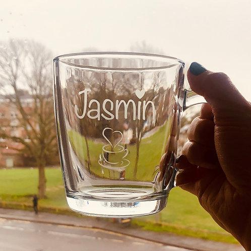 Coffee/Tea Glass Mug, Thick, toughened and heat resistant glass