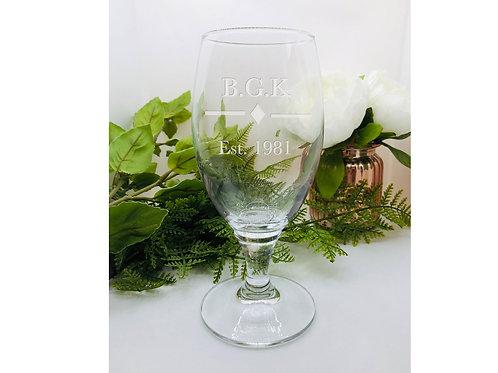 Personalised Craft Beer Glass