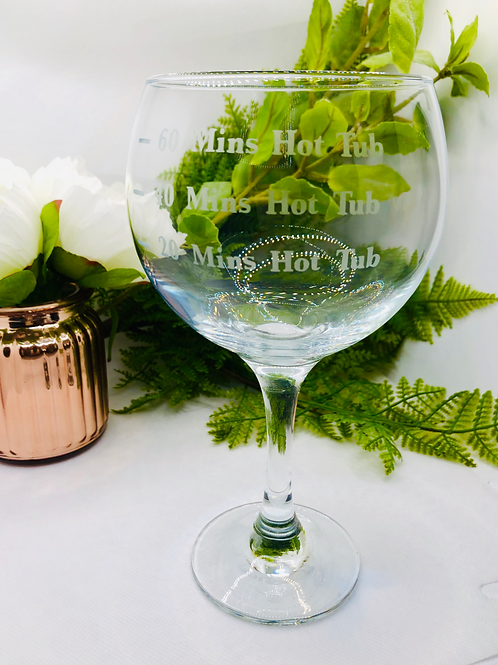 Hot tub Fill Line Glass - Gin, Whiskey, Pint, Wine Glass