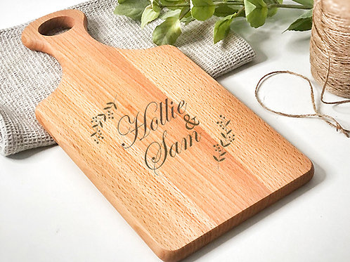 Engraved Paddle Chopping Board